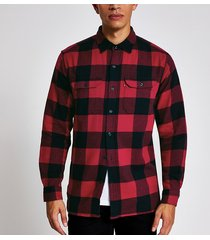 mens levi's red check long sleeve shirt