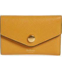 women's mulberry bifold leather card case - brown
