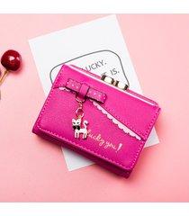 billetera mujeres- monedero de mujer monedero de moda-rojo