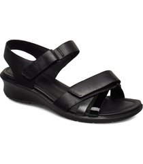 felicia sandal shoes summer shoes flat sandals svart ecco