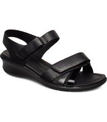 felicia sandal shoes summer shoes flat sandals svart ecco