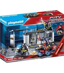 maletín comisaría fuerzas especiales multicolor playmobil