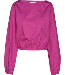 rodebjer vayk blouse lange mouwen roze rodebjer