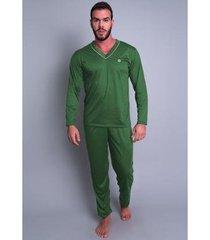 pijama mvb modas blusa manga comprida e calça masculino - masculino