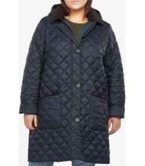 barbour plus size lovell hooded quilted coat