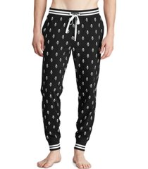 polo ralph lauren men's printed knit pajama joggers