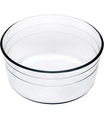 assadeira de vidro forma suffle 21cm  2,5l casa linda - branco - feminino - dafiti