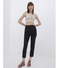 pantaloni chinos in lino
