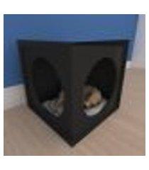 mesa de cabeceira caminha simples pequeno cachorro em mdf preto