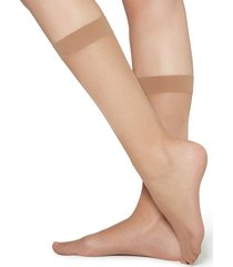 calzedonia - 20 denier 3/4 length sheer socks, one size, nude, women