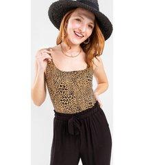 nina leopard print bodysuit - taupe