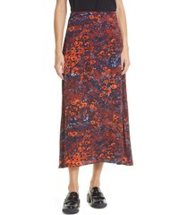 sams?e sams?e andina floral print midi skirt, size xx-small in fired crepitus at nordstrom