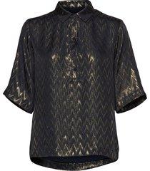 gabi shirt blouses short-sleeved blauw birgitte herskind