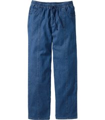pantaloni con elastico in vita classic fit straight (blu) - bpc bonprix collection