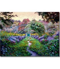 "david lloyd glover 'monet's giverny' canvas art - 32"" x 24"""