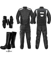 dotacion moto mensajero guantes chaqueta pantalon botas moto