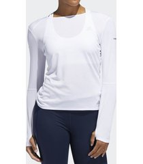 camiseta adidas manga longa corrida feminina
