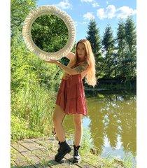 duże makramowe lustro 70 cm