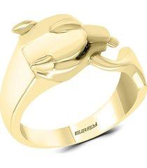 effy men's 14k yellow gold & black sapphire ring - size 10