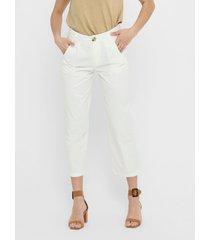 pantalón jacqueline de yong blanco - calce ajustado