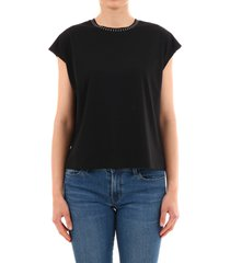 celine black t-shirt mini studs