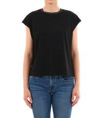 celine black t-shirt mini studs