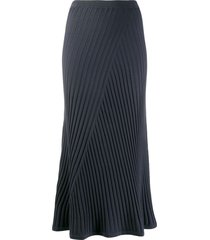 filippa k fay ribbed skirt - blue