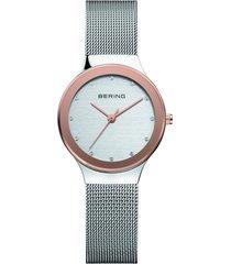 reloj classic mesh oro rosa bering