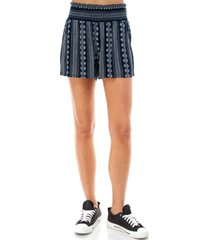 kingston grey juniors' printed smocked shorts