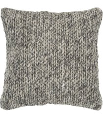 """rizzy home braid down filled decorative pillow, 20"""" x 20"""""""