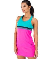camiseta regata com proteção solar uv adidas club tank - feminina - rosa/azul claro