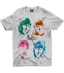 camiseta banda the beatles - unissex