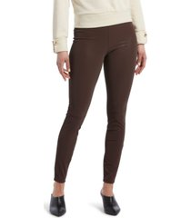hue textured faux-leather leggings