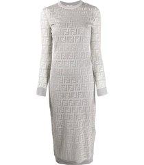 ff logo print dress