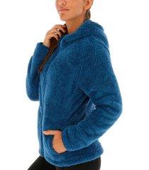 polar hoodie shaggy maya azul body & soul