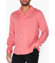 nudie jeans vidar njco skjortor rosa