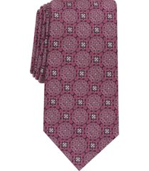 tasso elba men's soana medallion silk necktie, created for macy's