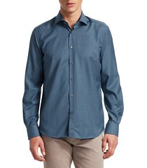collection solid wool shirt