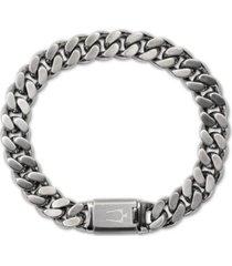 bulova men's chain bracelet in stainless steel