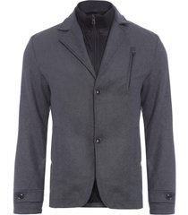 blazer masculino interno - cinza