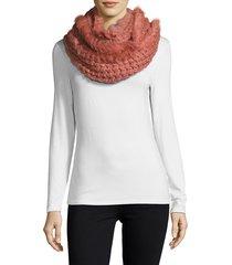 la fiorentina women's paisley print tassel scarf - rose