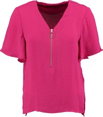 vero moda stevig soepel zacht polyester shirt roze