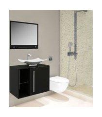 gabinete para banheiro suspenso nero lilies móveis