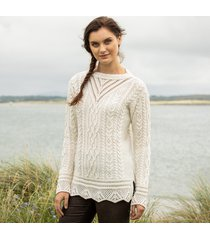 the lismore cream aran tunic large