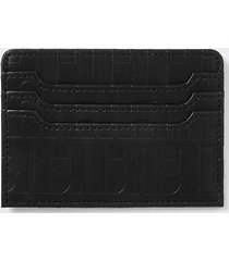 river island mens black ri monogram card holder