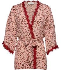 jacket 3/4 s kimonos rood rosemunde