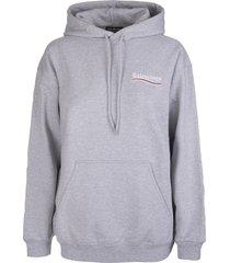 balenciaga man grey medium fit political campaign hoodie