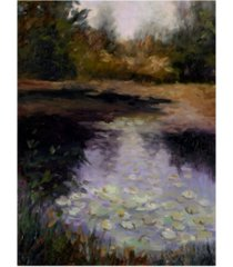 "mary jean weber oregon water lilies canvas art - 37"" x 49"""