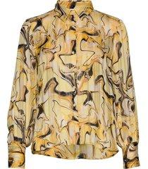 reemaiw shirt blouse lange mouwen geel inwear