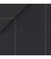 pantaloni da uomo su misura, lanificio subalpino, grigi macro rigati, autunno inverno